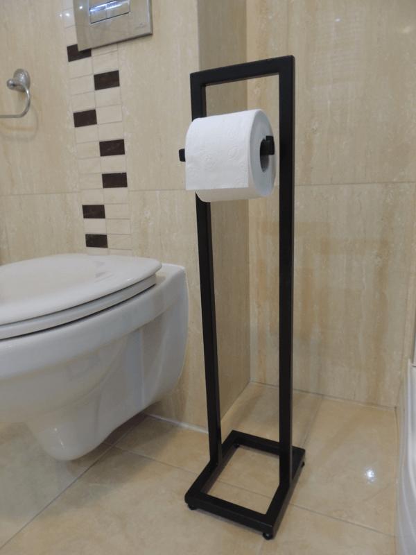 Stalowy stojak na papier toaletowy